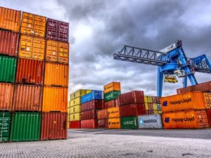 Containers at a Freeport
