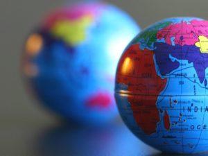 World Globe showing International Trade